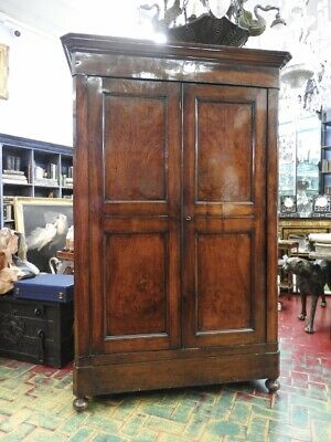 Antique Cabinet Two Doors in Walnut Classic Ottocento Classic Luigi Philip