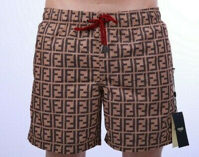 37781abecd NEW LOUIS VUITTON Men LV Petit Damier Monogram Logo Swim Trunk ...
