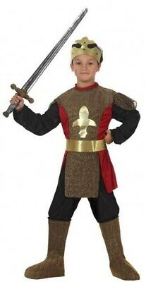 Boys Medieval King Knight Halloween Carnival Fancy Dress Costume Outfit 3-12 yrs
