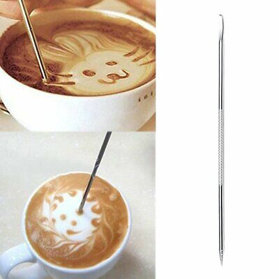 Stainless Steel Cappuccino Espresso Coffee Latte Decorating Art Pen Cafe Tools