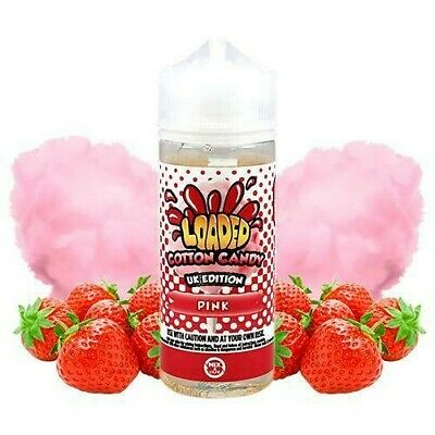 Eliquid Loaded Cotton Candy Pink 100ml (SHORTFILL) 0mg - ejuice vaper vapeo ecig