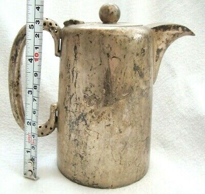Vintage Heavy Quality Hotel Carricks Hot Water Jug Coffee Pot Silver Plate Epns