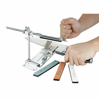 New PRO III Pro Fix-angle Knife Sharpener Kitchen Sharpening System +4 Stones