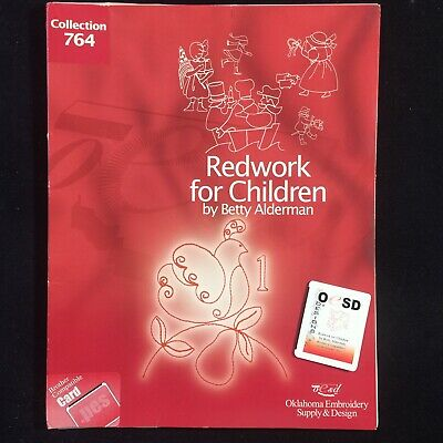 Redwork For CHildren Embroidery Designs Card #764 for Brother Baby Lock Deco
