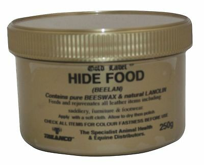 Gold Label Hide Food 250Ml Rejuvenates Leather Saddles, Bridles Tack Etc