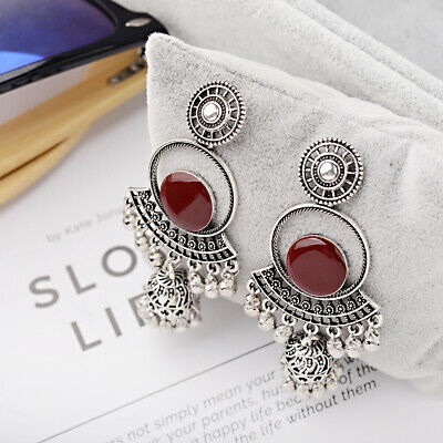 Fashion Women's Vintage Bohemian Ethnic Style Full Moon Dangle 3' Earrings Gifts