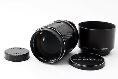"""EXC+++++"" Pentax SMC Takumar 135mm f/2.5 M42 MF Lens w/Hood Cap From Japan #685"