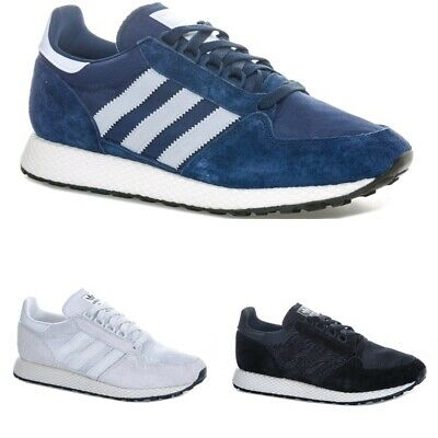 Mens adidas Originals  Forest Grove Trainers in black navy white AQ1186