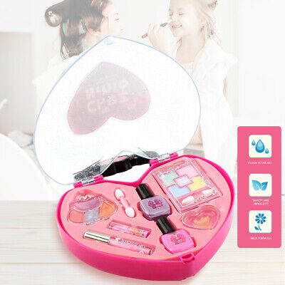 Washable Pretend Kids Make Up Gifts Set NON-TOXIC Makeup Box Toys for Girls Z8H4