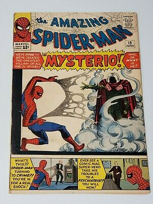 Amazing Spider-Man #13 Vol 1 Very Nice Upper Mid Grade 1st Appearance Mysterio