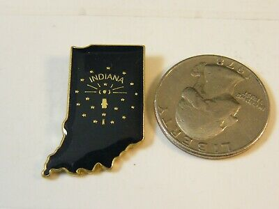 State Map Travel Pin Indiana State Flag (Style #1)