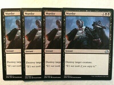 Instant Unc 4 x MURDER NM mtg Eldritch Moon Black