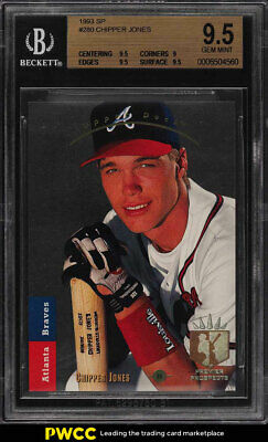Chipper Jones Rc Rookie Card 1992 Upper Deck 24 1992 Star