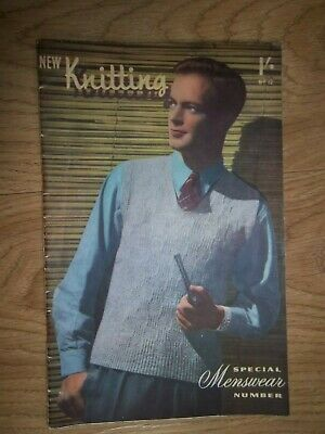 New Knitting #12 Special Menswear number Sentinel publication 1940's 1950's?