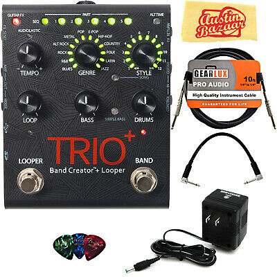 DigiTech TRIO+ Band Creator + Looper Pedal w/ Power Supply