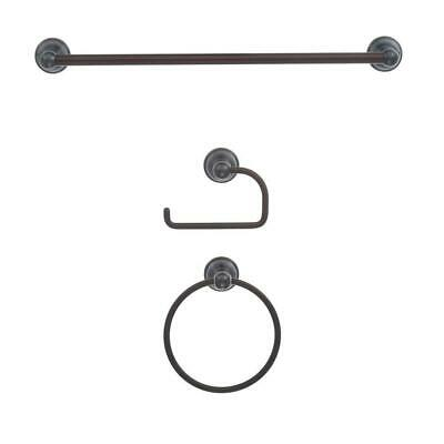 ZenDesign Manor 3-Piece Bath Hardware Accessories Set Oil Rubbed Bronze