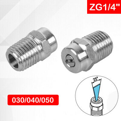 "Pressure Washer Jet wash Spray Nozzle 1/4"" meg 25° Fan Jet Sizes 1.07/1.2/1.35mm"