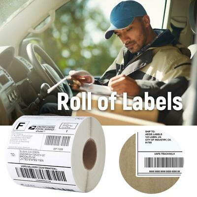 Thermal Self Adhesive Sticky Labels postage address rolls Muti-sizes White