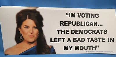 Wholesale Lot Of 10 Monica Lewinsky Voting For Republican Trump 2020 Stickers