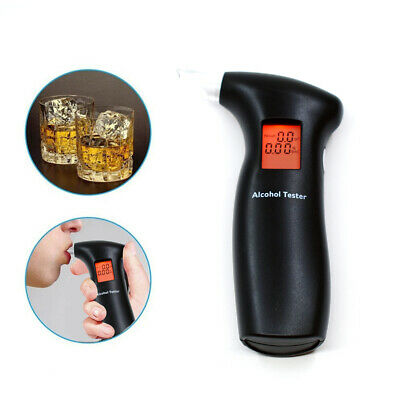 New Professional LCD Digital Breath-Alcohol Tester Breathalyser Police Pormptly