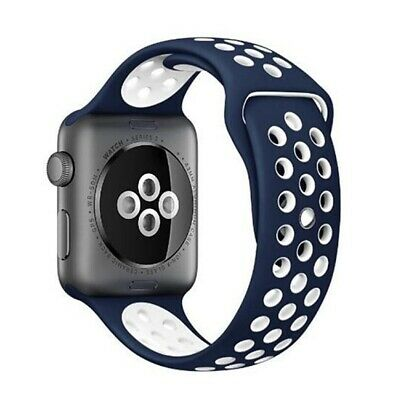Recambio para Apple Watch 42mm Series 1 2 3 Correa reloj silicona Azul oscuro
