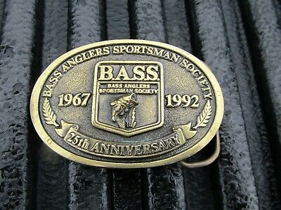 Vintage B.A.S.S. 25th Anniversary Belt Buckle Nice USA Made