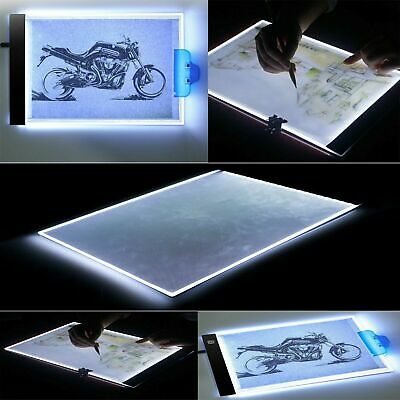 Dimmable USB A4 LED Light Box Tracing Board Art Stencil Drawing Pattern Pad Hot