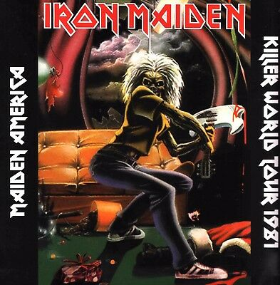 IRON MAIDEN America - Summerfest 1981 LP LIVE Killers tour new back cover VINYL