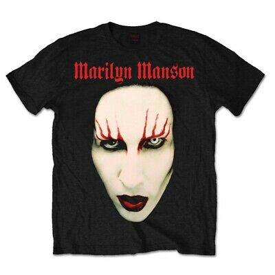Small Black Men's Marilyn Manson Red Lips T-shirt - Official T Shirt All Sizes
