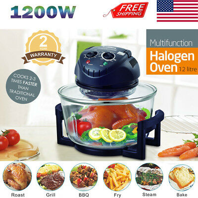 12 5 Quart 1200w Halogen Convection Countertop Oven Kitchen Cooker Ovens Frying