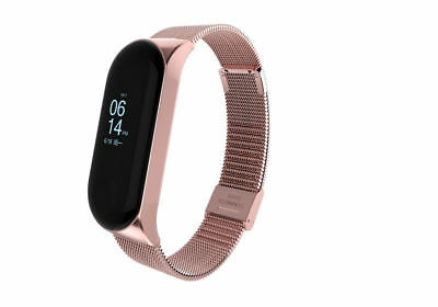 For Xiaomi Mi Band 3 Metal Wrist Smart Bracelet Stainless Steel Watch Band Strap