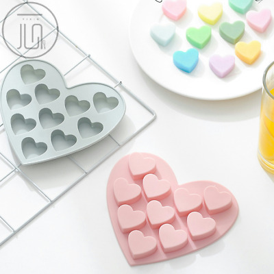 10 Sweet Heart Cake Jelly Cookie Candy Mold Chocolate Baking Mould Tray Ice Cube