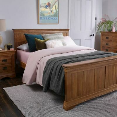 Rustic Solid Oak Luxury King-size Bed, French Farmhouse.