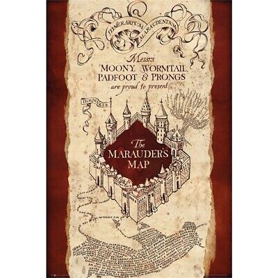 Harry Potter Marauders Map Poster - 61x915cm 91cm New Film Cinema Wall Deco
