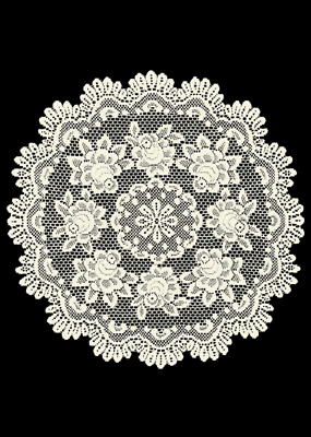 """Heritage Lace ECRU ROSE 30"""" Table Topper"""