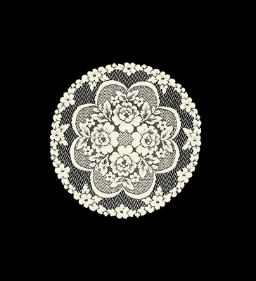 """Heritage Lace Ecru Victorian Rose 19"""" Doily Made in the USA!"""