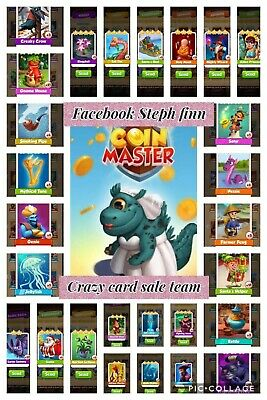 Coin Master Rare Cards Pick 3💥💥💥 Including Lettuce