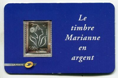 """France - """" MARIANNE """" 5 Euro, Pure Silver Stamp 2006 !"""
