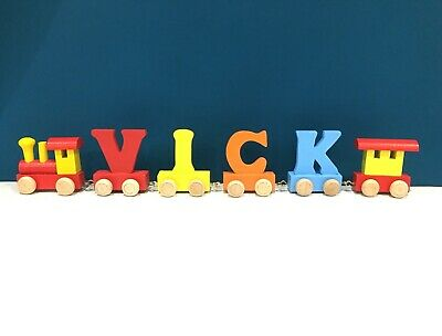 Personalized Letter Name wooden Train Birthday New Year Christmas Gift Toy