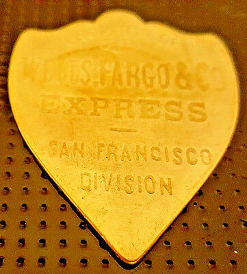 Old Wells Fargo Shield US Gold Lustre Express Unknown Unusual Mail Post Copper