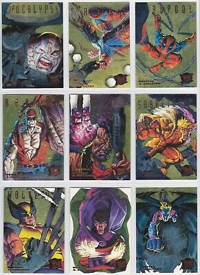 1995 Fleer Ultra X-Men Hunters & Stalkers Complete 9 Card Gold Set Deadpool