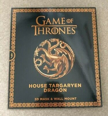 Game Of Thrones 3D Mask And Wall Mount House Targaryen Dragon HBO New