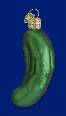 Pickle Vegetable Cucumber Old World Christmas Glass Folklore Ornament Nwt 28016