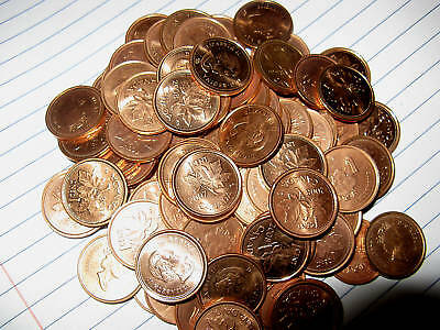 1965 Small Beads Pointed 5 Rare One BU Penny From The Lot.