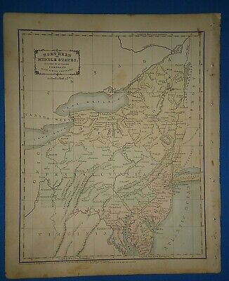 1856 TEXAS MAP TX EDWARDS EL PASO ELLIS ENCINAL ERATH FALLS FANNIN COUNTY HUGE