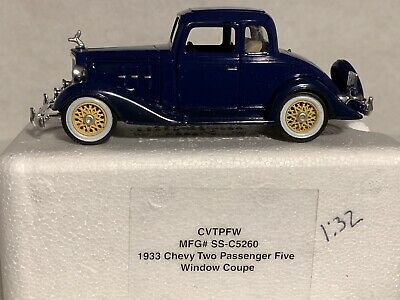 477c99e20fd1a NATIONAL MOTOR MUSEUM Mint 1933 Chevy 5 Window Coupe 1:32 Scale-Free ...