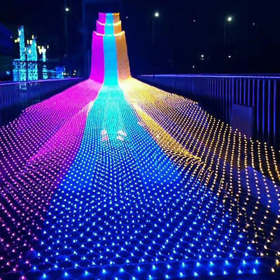 2M/6M LED String Fairy Lights Net Mesh Curtain Christmas Party Outdoor Indoor