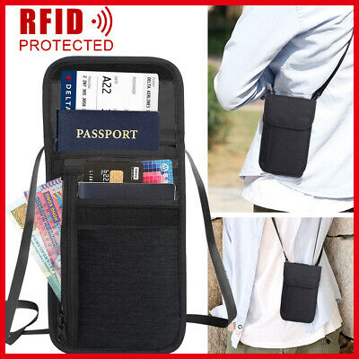 RFID Wallet Bag Blocking Security Neck Passport Card Holder Stash Travel Pouch