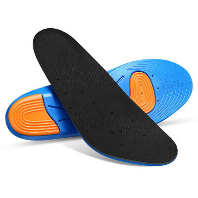 Men's Gel Orthotic Soft Running Insoles Insert Shoe Pad Arch Support Cushion
