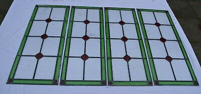 4 leaded light stained glass window panels - mostly for restoration. S919